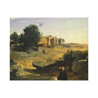 Lienzo Jean-Baptiste-Camilo Corot - Hagar