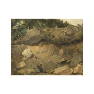 Lienzo Jean-Baptiste-Camilo Corot - mina de piedra