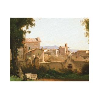 Lienzo Jean-Baptiste-Camilo Corot - visión desde el