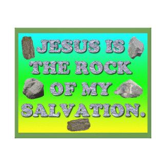 Lienzo Jesús es la roca de mi salvación