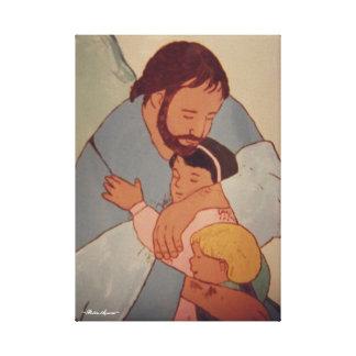 LIENZO JESÚS Y LOS NIÑOS