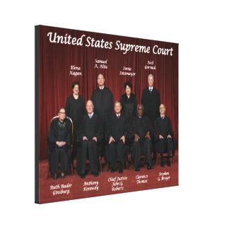 Lienzo Jueces del Tribunal Supremos de Estados Unidos