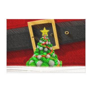 Lienzo Juego y árbol de navidad lindos de Papá Noel