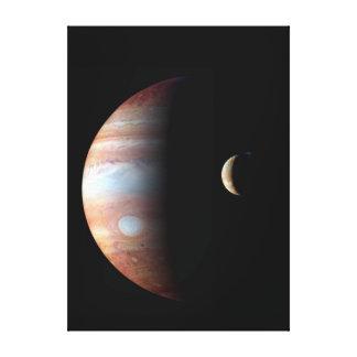 Lienzo Júpiter colorido fresco e Io