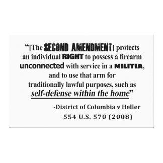 Lienzo Jurisprudencia de la enmienda de DC v Heller en