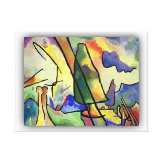 Lienzo Kandinsky inspiró paisaje abstracto y un par