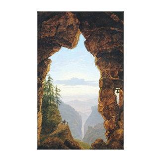Lienzo Karl Friedrich Schinkel la puerta en las rocas