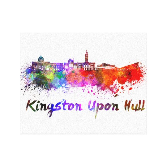 Lienzo Kingston Upon Hull skyline in watercolor