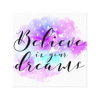 Lienzo La acuarela cree en su cita de los sueños