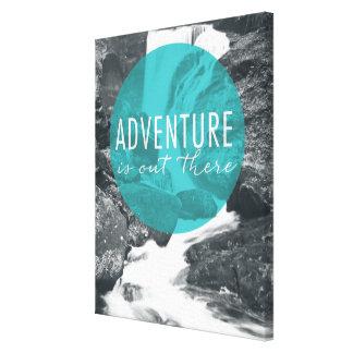 Lienzo La aventura de los ríos el   está hacia fuera allí