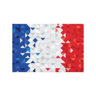 Lienzo La bandera abstracta de Francia, francés colorea