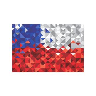 Lienzo La bandera de Chile, chileno simple colorea la