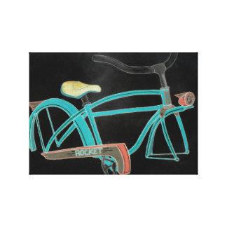 Lienzo La bici de la mamá