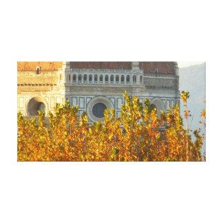Lienzo La bóveda de Brunelleschi en caída