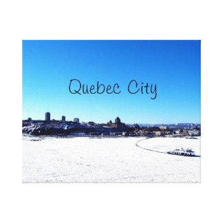 Lienzo La ciudad de Quebec y St. el río Lawrence el