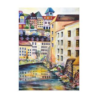 Lienzo La ciudad vieja en Estocolmo