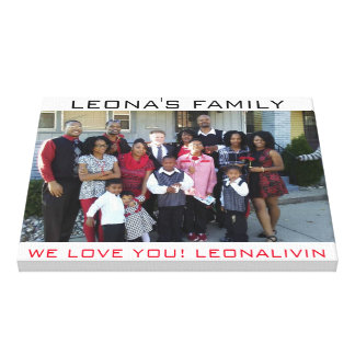 LIENZO LA FAMILIA DE LEONA