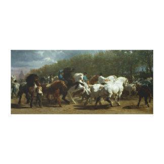 """Lienzo """"La feria de caballo"""" por Rosa Bonheur"""