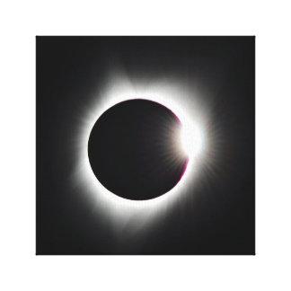 Lienzo La gran lona americana del eclipse