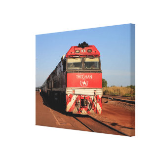 Lienzo La locomotora del tren de Ghan, Darwin