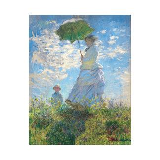 Lienzo La mujer de Monet restaurado con un parasol el