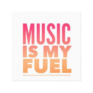 Lienzo La música es mi combustible