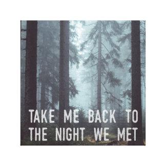Lienzo La noche que hicimos frente