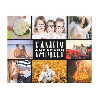 Lienzo La plantilla del collage de la foto de la familia