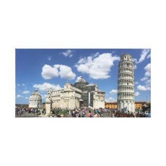 Lienzo La torre de Pisa