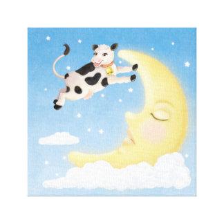 Lienzo La vaca saltada sobre la luna