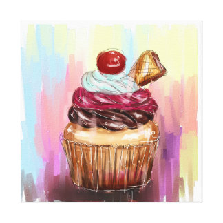 Lienzo la vida es un pedazo de torta de la taza