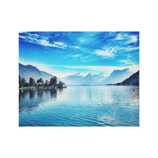 Lienzo Lago Annecy - Baie de Talloires