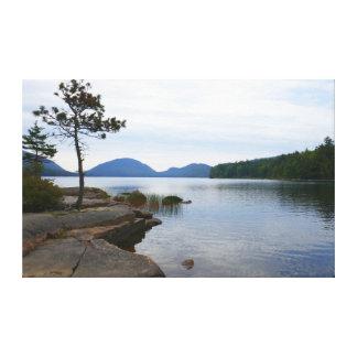 Lienzo Lago eagle en el parque nacional del Acadia