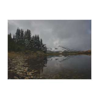 Lienzo Lago en la caída en lona