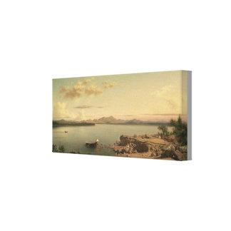 Lienzo Lago George vintage de Martin Johnson Heade