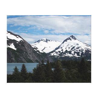 Lienzo Lago y montañas, Alaska, los E.E.U.U. Portage