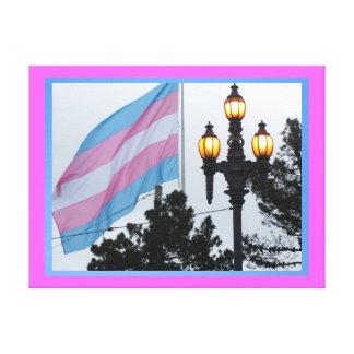 Lienzo Lámina - Bandera Transgénero del en de Arte Impresiones En Lienzo Estiradas