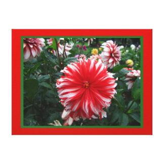 Lienzo Lámina - Blanca del en de Arte de Flor Roja Impresiones De Lienzo