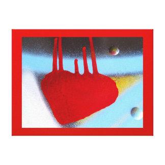 Lienzo Lámina - EL Corazón Rojo del en de Arte Lienzo Envuelto Para Galerias