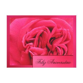 Lienzo Lámina - Feliz Aniversario Rosa del en de A Lienzo Envuelto Para Galerías