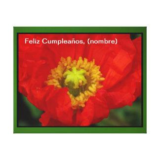 Lienzo Lámina - Feliz Cumpleaños (nombre) del en d Impresion De Lienzo