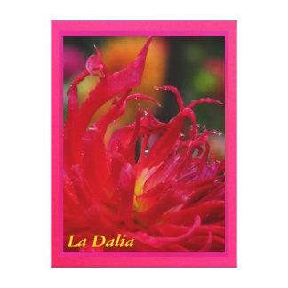 Lienzo Lámina - La Dalia Roja del en de Arte Lona Envuelta Para Galerías