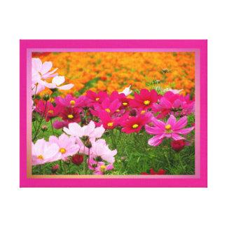 Lienzo Lámina - Las Flores del en de Arte Impresión En Tela