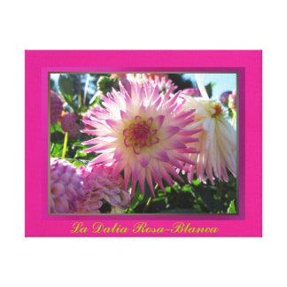 Lienzo Lámina - Rosa-Blanca del en de Arte de Impresión En Tela
