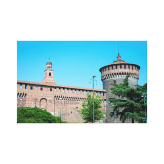 Lienzo Landm de la arquitectura de Italia Milano de la