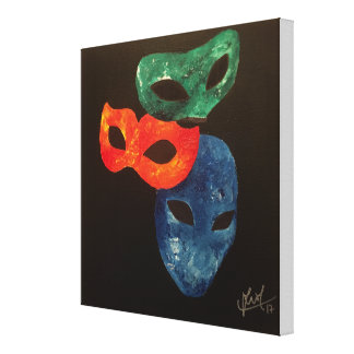 """Lienzo Las """"máscaras sacamos"""" la pintura abstracta"""