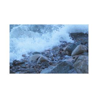 Lienzo las rocas de la bahía
