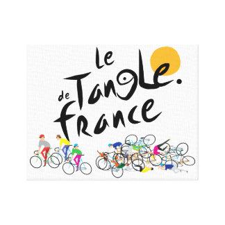 Lienzo Le Tangle de Francia (Tour de France del Le) en