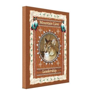 Lienzo León de montaña - lona envuelta dirección