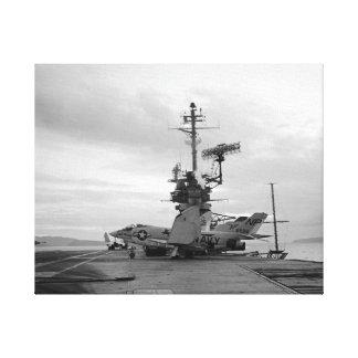 Lienzo León del negro del combatiente del demonio de USS